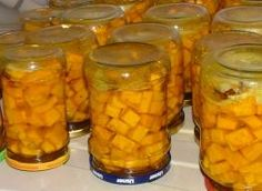 Dynia marynowana :D - przepis ze Smaker.pl Dips, Curry, Beans, Canning, Vegetables, Recipes, Dressings, Sauces, Marmalade
