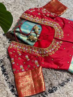 Silk Saree Blouse Designs, Fancy Blouse Designs, Bridal Blouse Designs, Saris, Silk Sarees, Computer Works, Hand Work Blouse Design, Embroidery Neck Designs, Anupama Parameswaran