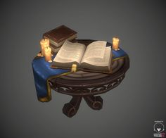 Medieval stuff in the table, Antonio Neves on ArtStation at http://www.artstation.com/artwork/medieval-stuff-in-the-table