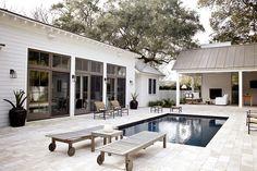greige design blog: pool side... simply