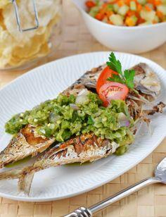 Fish cooking with green chili, ikan masak cabe hijau