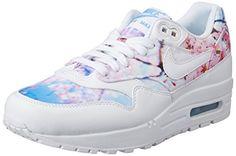 337788ff94b5da Nike Women s Air Max 1 Print White White University Blue Running Shoe 8  Women US. Made for the iconic runner.