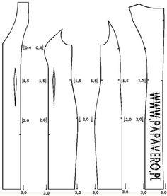 Stopniowanie odzieży. Akt 11 - sukienka z cięciem francuskim według wzrostów