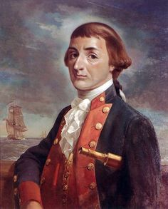 Painting by V. Zveg, based on a miniature by Louis Marie Sicardi. Courtesy of the U. Navy Art Collection, Washington, D. Donegal, American Revolution, Pirates, Liberty, Navy, History, Irish, Washington, Miniature