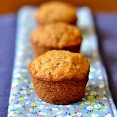 Morning Glory Muffins: 3 cups white whole wheat flour 2 cups plain yogurt 2 eggs 2 tsp. baking soda 1 tsp. cinnamon 1 tsp. sea salt ¼ cup maple syrup 1 tsp. vanilla extract ¼ cup melted coconut oil ½ cup crushed pineapple 2 carrots, peeled and grated 1 apple, peeled and grated ½ cup raisins