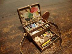pintor de casa de muñecas miniatura caja. por bagusitalyminiatures