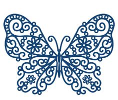 Detailed and delicate, Tattered Lace Dies are the most intricate dies available. Papillon Butterfly, Butterfly Quilt, Stencils, Tattered Lace Cards, Diy Cutting Board, Paper Lace, Parchment Craft, Kirigami, Silhouette Projects