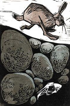 linocut dog - Google Search