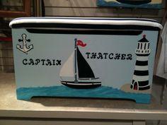 Captain Thatcher's Nautical Themed Toy Box made by CCCbyReta.etsy.com