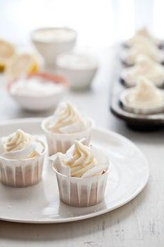Lemon-coconut cupcakes... they look delightfully yummy!