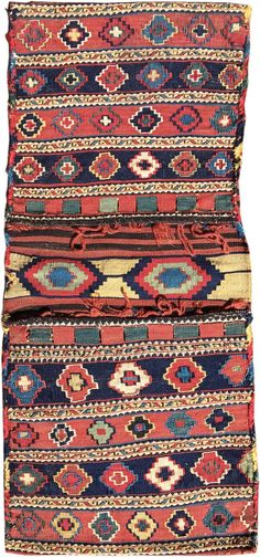Shahsevan sumak and kilim khorjin, 19th c., Caucasus.