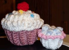 Crochet Geek - Free Instructions and Patterns: Crochet CupCake with Cherry & Sprinkles