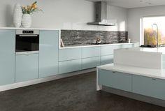 Modern Kitchens : Zurfiz Blue Acrylic