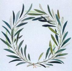 Corona de olivo. Se ponía sobre la cabeza de los atletas vencedores desde la séptima olimpiada