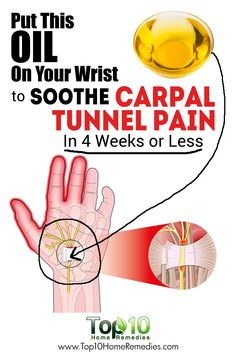 Tunnel Syndrome: Prevention and Home Remedies for Relief Put This Oil On Your Wrist to Soothe Carpal Tunnel Pain In 4 Weeks or Less!Put This Oil On Your Wrist to Soothe Carpal Tunnel Pain In 4 Weeks or Less! Natural Headache Remedies, Natural Health Remedies, Natural Cures, Herbal Remedies, Holistic Remedies, Carpal Tunnel Relief, Carpal Tunnel Syndrome, Pain Relief, Stress Relief