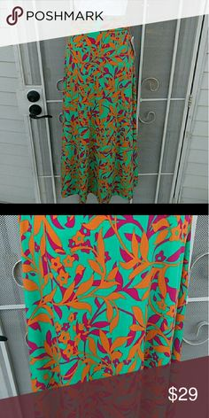 Bright floral LuLaRoe maxi XXS Bright and pretty maxi skirt. Great for summer or vacation! LuLaRoe Skirts Maxi