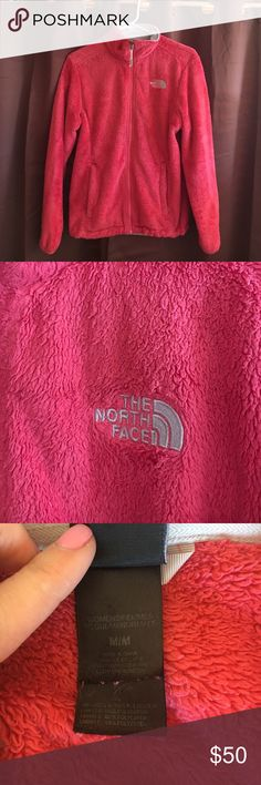 North Face fleece Great used condition North Face fleece. Size Medium. Pink coral color North Face Jackets & Coats