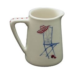 Jug: Pitcher Heart Range Chair R140,00 Colour: Blue and Red 1 x 260ml Ceramic Pitcher Jug Dishwasher and Microwave safe Call us: +27 (0) 861999938 Chutney Grey - Cape Town