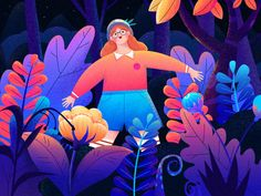 My colorful dream trip by Yannie Feng Art And Illustration, Flat Design Illustration, Character Illustration, Graphic Design Inspiration, Vector Art, Fanart, Neon, Adobe Illustrator, Drawings