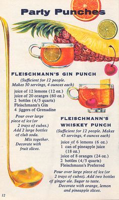 1960s punch recipes