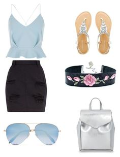 """Untitled #1"" by tulip51155-1 ❤ liked on Polyvore featuring Loeffler Randall, River Island and Victoria Beckham"
