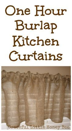 These burlap curtains are fast and easy to make! Only basic sewing skills are required!