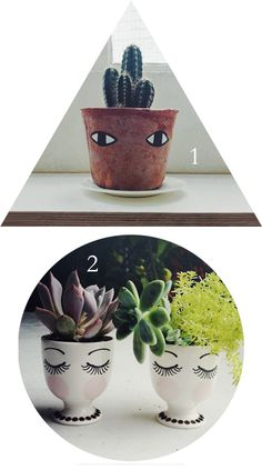 Quirky White Ceramic Planter For Succulent Or Cactus .