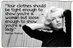 marilyn monroe themed bedroom | Marilyn Monroe on tight-fitting – vs – loose clothes: