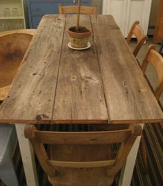 reclaimed barnwood farm table....One day I will have a beautiful table like this full of friends and family :-)