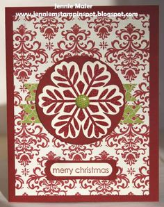 SUO-FMS63 Christmas Snowflake by CraftyJennie - Cards and Paper Crafts at Splitcoaststampers