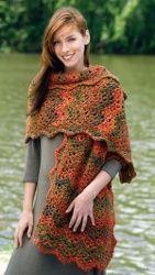 Crochet Wrap http://www.allfreecrochet.com/Crochet-Wrap-Patterns/Magic-Shevrons/ml/1/?utm_source=ppl-newsletter&utm_medium=email&utm_campaign=hookedoncrochet20140215