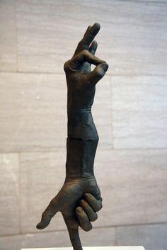 modern sculptures of hands | Photo via Adventures of Madri