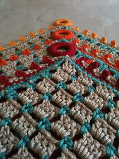 """Free pattern for """"Hot Button Hot Pad"""" by ChickenBetty!"""