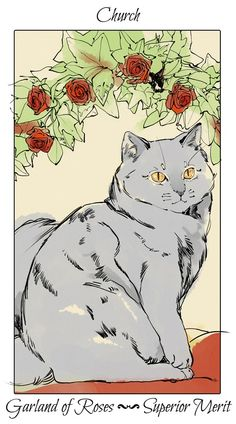 """Church, the Cat"" flower card by Cassandra Jean, from ""The Mortal Instruments"", a series of six young adult fantasy novels written by Cassandra Clare City Of Bones, Comic Artist, Beautiful Creatures, Cassandra Jean, Tumblr Art, Graphic Novel, Art, Peculiar Children, Fan Art"
