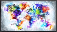 Mikael B - Vibrant World Map