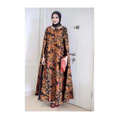 "92k Likes, 656 Comments - Zaskia Sungkar (@zaskiasungkar15) on Instagram: ""< thankyou so much for this beautiful batik cape dress 😍 @kantisudirocollections >"""