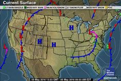 Us Weather Map High And Low Pressure Maps Of USA Current Low