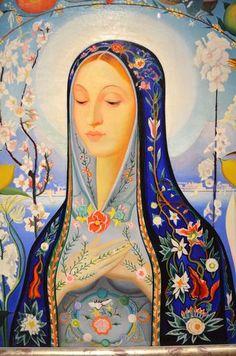 Joseph Stella: The Virgin Religious Images, Religious Art, St Hildegard, Madonna, Joseph Stella, Art Populaire, Blessed Mother Mary, Spiritus, Renaissance Paintings