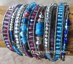 Hey, I found this really awesome Etsy listing at https://www.etsy.com/listing/219943102/five-wrap-beaded-leather-wrap-bracelet