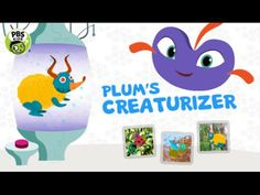 Fun app for kids: plum's creaturizer Flying With Kids, Elderly Home, Training Materials, Snack Video, Pbs Kids, Health Insurance Companies, Health Lessons, Healthy People 2020 Goals, Health Snacks