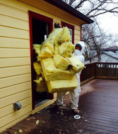 Hugging Insulation to Try to Stay Warm! #demolition