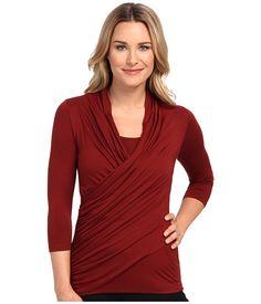Karen Kane 3/4 Sleeve Wrap Top - 6pm.com