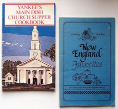 """Pair of Pamphlet Cookbooks: """"New England Favorites"""" (1986); """"Yankees Main Dish Church Supper"""" Cookbook, 1980. [Click link for more info and/or to purchase at my shop """"Collecting Memories"""" on RubyLane.com]"""