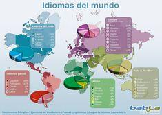 Idiomas del mundo #Infographic #languages