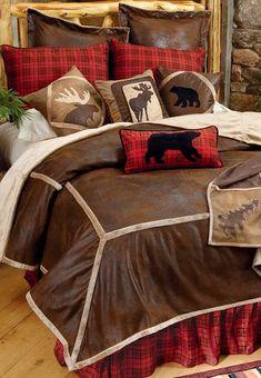 Northwoods Wilderness Lodge Bedding #LodgeDecor