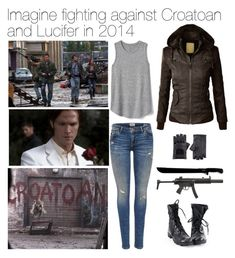 Designer Clothes, Shoes & Bags for Women Supernatural Inspired Outfits, Supernatural Fashion, Supernatural Cosplay, Supernatural Imagines, Supernatural Bloopers, Supernatural Tattoo, Supernatural Funny, Fandom Fashion, Nerd Fashion