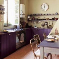 incredible purple kitchen