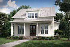 Modern Farmhouse Plan: 1,257 Square Feet, 2 Bedrooms, 2 Bathrooms - 041-00227