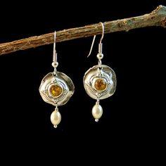 Fine Silver Regal Dangle Earrings