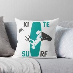 Kitesurfing, Car Stickers, Original Art, Cushions, Throw Pillows, Art Prints, Printed, Awesome, Color